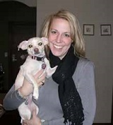 Shelby (Terrier mix) graduated from dog obedience training camp in Minneapolis in 2008.