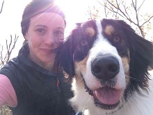 Whitney & her dog Ezra